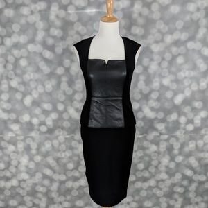 Bailey 44 Faux Leather Peplum Dress